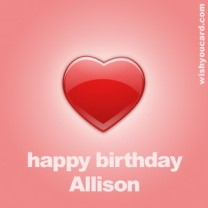 happy birthday Allison