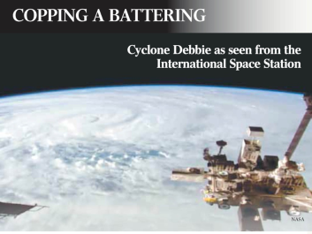 cyclone debbie from space