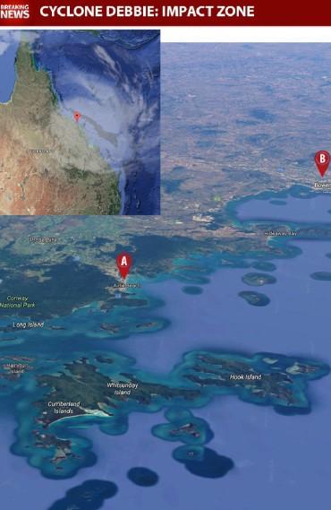 cyclone debbie impact zone
