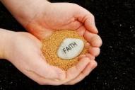 faith stone on mustard seeds