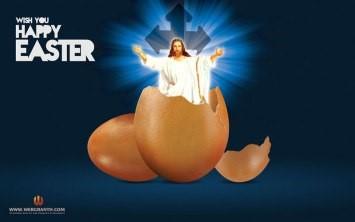 Jesus in chocolate egg