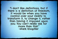 freedom Mark Knopfler