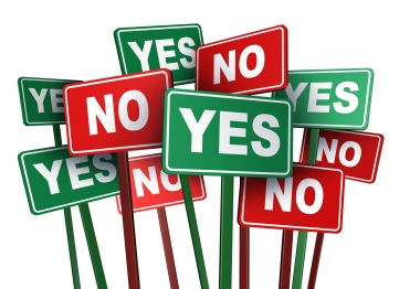 yes and no signs