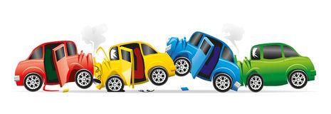 four car smash