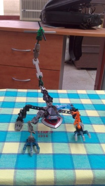 Liam Lego creation dragon-ish_2014