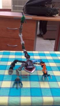 Liam Lego creation dragon-ish_2014