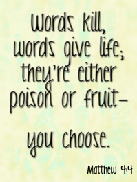 words life and death_matthew 4-4