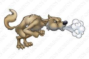 big bad wolf blowing wind