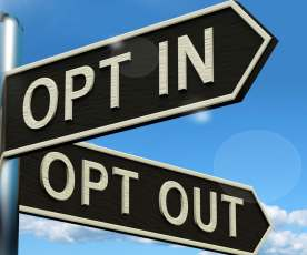 donate opt in opt out