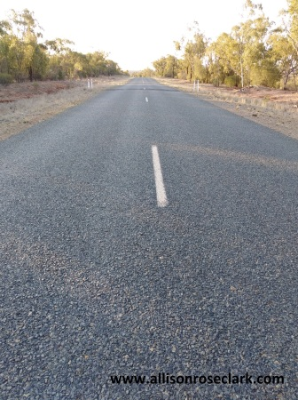 On the way to Cobar 09.10.2018-the road.13.01