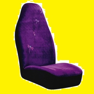 purple dragonfly seat cover
