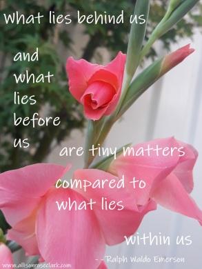What lies behind us