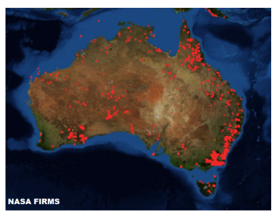 Australia on fire_NASA FIRMS